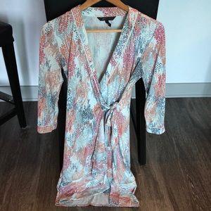 BCBG wrap dress, size S